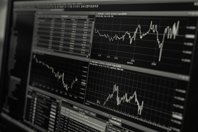 market trading chart